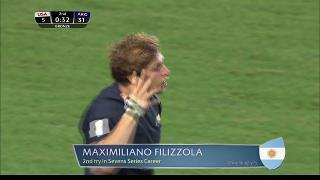 Try, Maximiliano Filizzola, Usa vs ARGENTINA