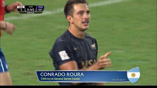 Try, Conrado Roura, Usa vs ARGENTINA