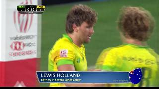 Try, Lewis Holland, South Africa vs AUSTRALIA