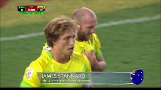 Try, James Stannard, South Africa vs AUSTRALIA