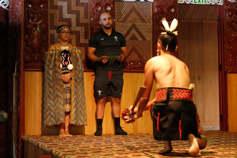 Welsh sevens visit Maori Arts and Crafts Institute, Te Puia, New Zealand.