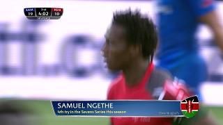 Try, Samuel Ngethe, Samoa vs KENYA
