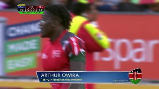 Try, Arthur Owira, Samoa vs KENYA