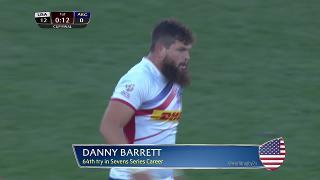 Try, Danny Barrett, USA v Argentina