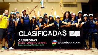 Sudamerica Rugby Youth Olympics Games trophy lift