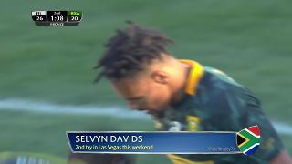 Try, Selvyn Davids, SOUTH AFRICA v Fiji