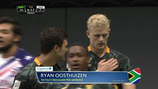 Try, Ryan Oosthuizen, SOUTH AFRICA vs Usa