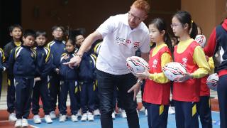 Ben Ryan at the HSBC Try Rugby Programme