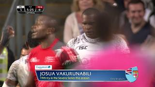 Try, Josua Vakurunabili, FIJI v Kenya