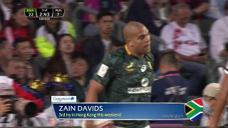 Try, Zain Davids, SOUTH AFRICA v New Zealand