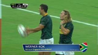 Try, Werner Kok, SOUTH AFRICA vs England