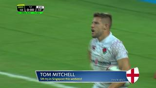 Try, Tom Mitchell, South Africa vs ENGLAND