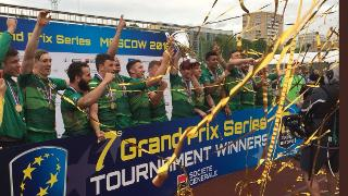 Rugby Europe Grand Prix Sevens Series 2018: Moscow Sevens trophy lift