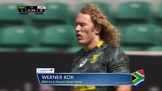 Try, Werner Kok, SOUTH AFRICA v England