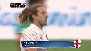 Try, Dan Bibby, Ireland v ENGLAND