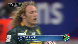 Try, Werner Kok, England v SOUTH AFRICA