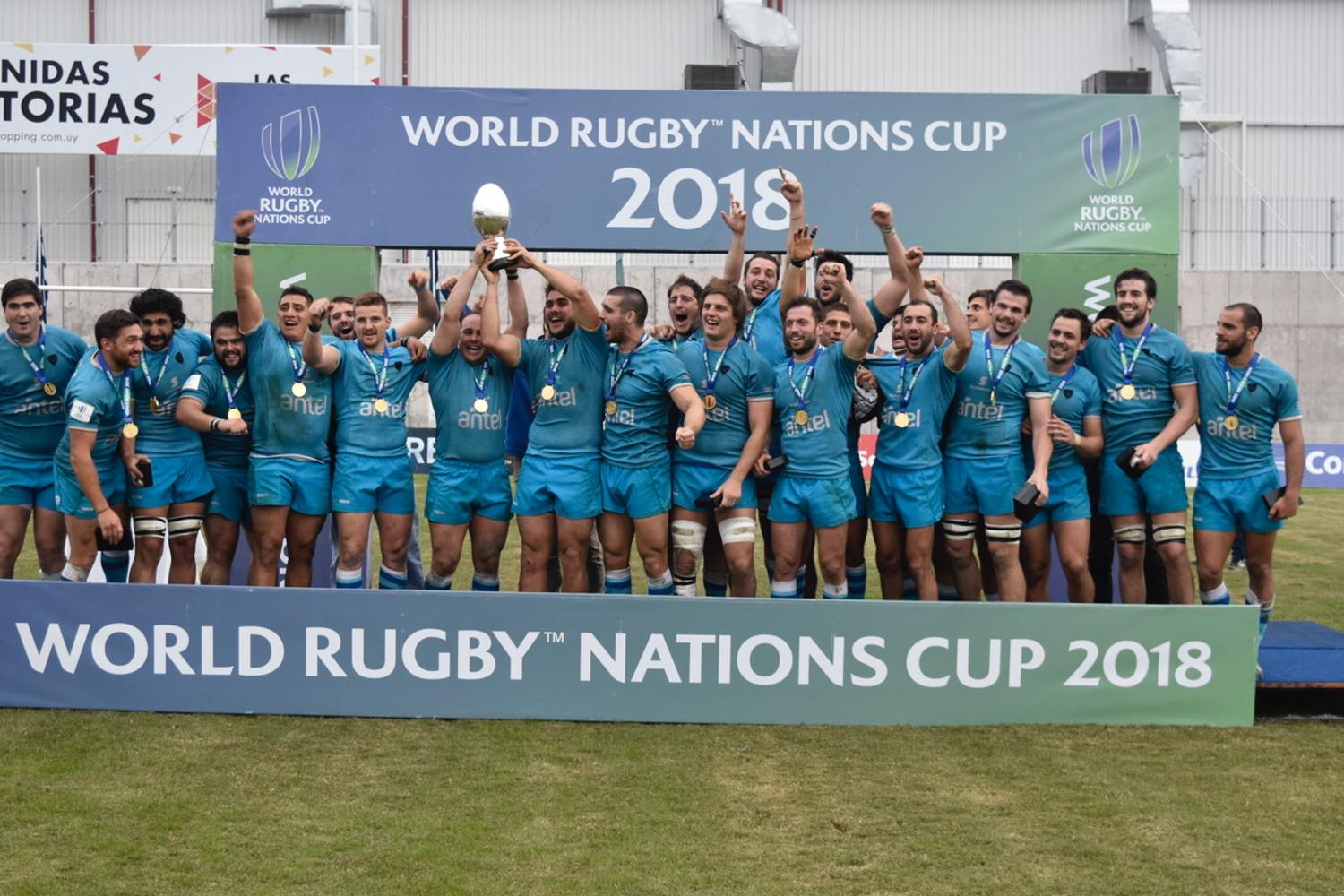 World Rugby Nations Cup 2018: Trophy lift