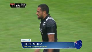 Try, Sione Molia, Canada v NEW ZEALAND