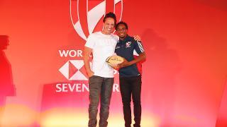 Carlin Isles win Top Try Scorer Award