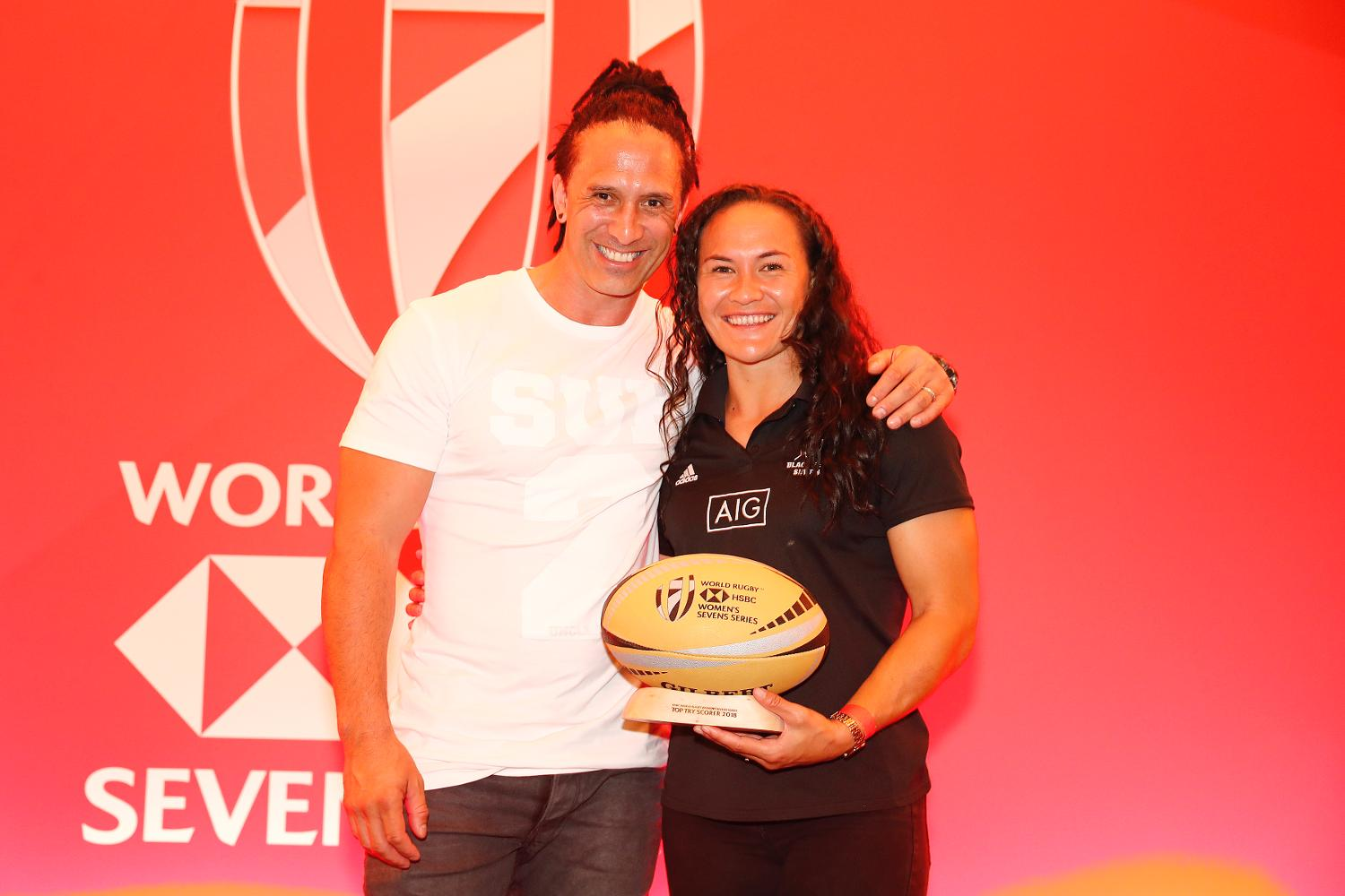 Portia Woodman wins HSBC World Rugby Women's Sevens Series Top Try Scorer award