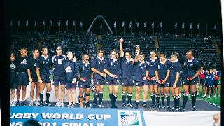 Rugby World Cup Sevens 2001 trophy lift