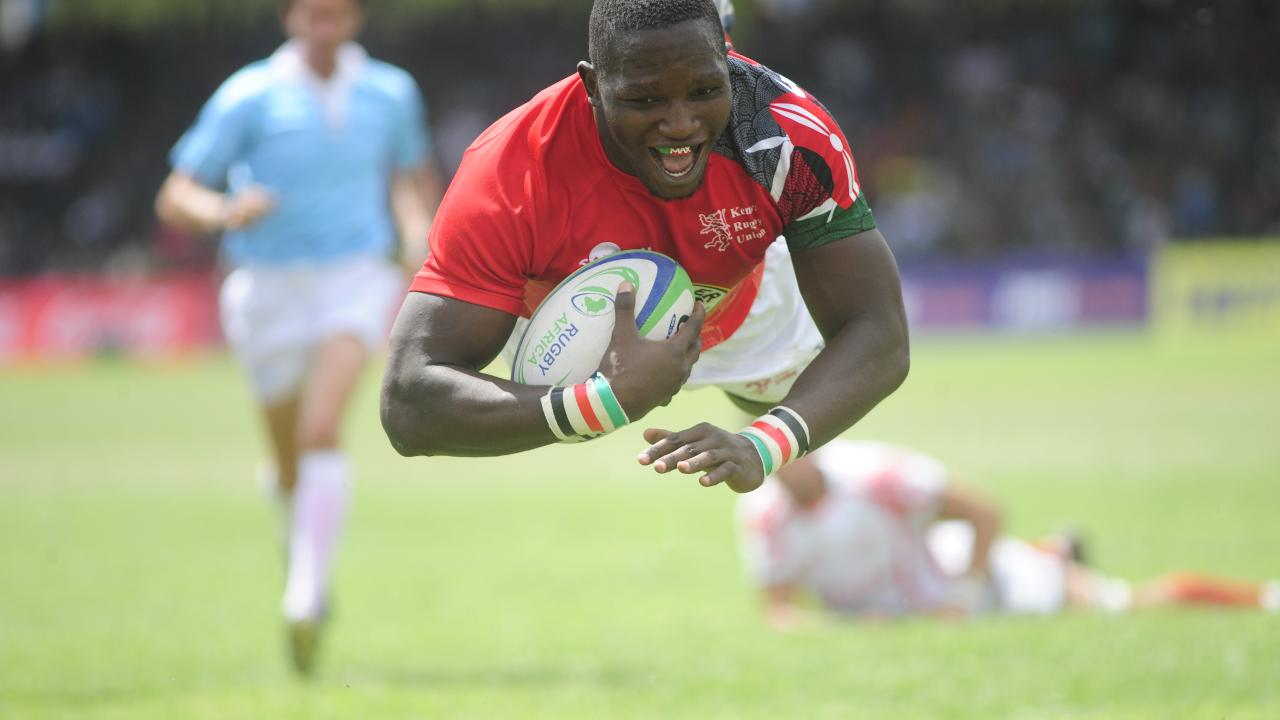 Incredible dummy try for Kenya against Tunisia