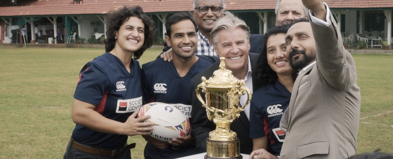 Rugby World Cup Trophy  Tour: Webb Ellis Cup inspires India