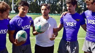 Agustin Pichot with Argentina U18 team