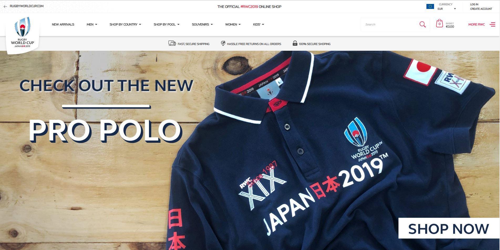 af39d4d2452 Rugby World Cup 2019 official online shop launches - Rugby World Cup 2019 |  rugbyworldcup.com