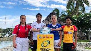 Oceania Women's Championship 2018 captain's photocall