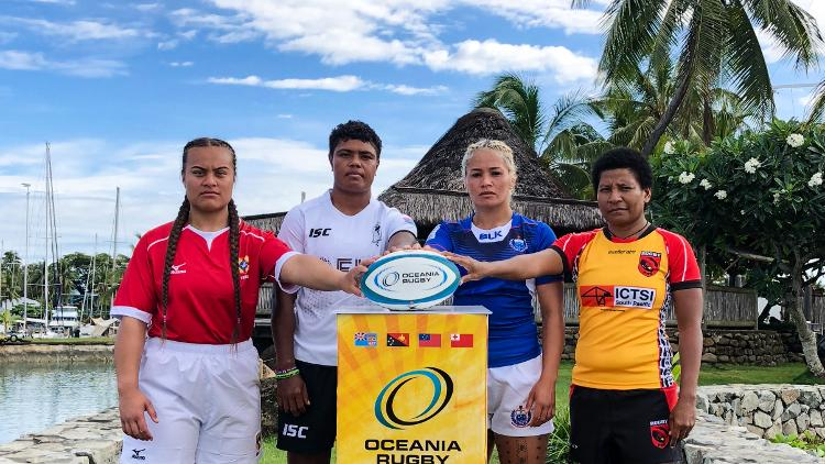Oceania Women's Championship 2018 captain's photocall