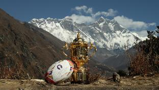 Webb Ellis Cup scales new heights in the Himalayas