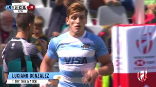 Try, LUCIANO GONZALEZ, ARGENTINA v Japan